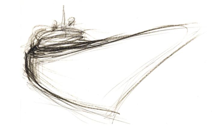 Yacht Design Hand Sketch